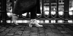 shiny golden shoes.. (Cem Bayir) Tags: street leica winter people blackandwhite bw feet monochrome night 50mm gold golden switzerland shoes f14 zrich asph zh leicam asperical leicam240