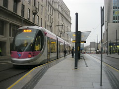 Bull Street Midland Metro stop is now open. (Matt.Bateman) Tags: street city birmingham metro 21 centre tram bull stop national express midland mm1