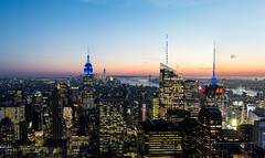 New York at night, panorama (fernando garca redondo) Tags: city panorama usa ny newyork manhattan nuevayork nycity panormica newyorkatnight
