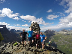 Me, Anette, Marius and a friend of Marius at the top!