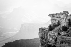Vast (Kirk Lougheed) Tags: arizona grandcanyon grandcanyonnationalpark matherpoint southrim usa unitedstates bw blackandwhite canyon cliff landscape monochrome nationalpark outdoor rim summer