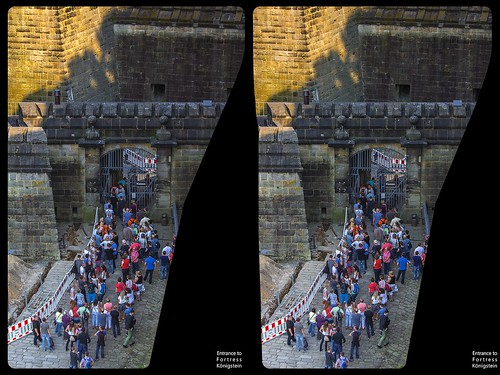 Fortress Königstein in Saxony 3-D / Cross-View / HDR / Stereoscopy / Raw