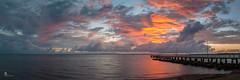 Jetty dawn (pbaddz) Tags: wellingtonpoint sunrise panorama australia water redlands moretonbay jetty clouds dawn queensland