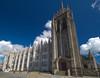 "the magnificent Marischal College and Greyfriars church in spring sunshine, blue sky, fluffy white clouds, Aberdeen Scotland (grumpybaldprof) Tags: ""marischalcollege"" ""universityaberdeen"" ""kingscollege"" merger scotland ancient 1495 1593 history historic monument education httpwwwabdnacuk ""granitecity"" aberdeen ""aberdeencity"" grampian uk ""beautifulcity"" ""northeastscotland"" aberdeenshire worldslargestgranitebuilding colouir blue sky spring fluffyclouds rock scottish kirk church university buildings monuments architecture citycentre outdoor sigma 1020 1020mm f456 ""sigma1020mmf456dchsm"""
