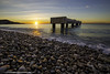 Sunrise Lido Plage ! (Damien06300) Tags: canon 6d 1635mm france nice villedenice nice06 soleil hiver rochers cailloux lumière light amazing ponton sea mer plage beach