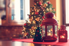 Kitchen in December (Shahrazad_84) Tags: christmas christmastime home bokeh 50mm rotera candles christmastree natale cosy cozy goodvibes lantern