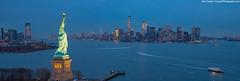 Liberty (Ben_Cooper) Tags: nyc newyork newyorkcity statueofliberty sol statue liberty newyorkharbor manhattan skyline nyskyline nycskyline newyorkskyling manhattanskyline libertyisland harbor panorama