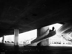 downstairs (René Mollet) Tags: zürich downstairs blackandwhite bw monchrom monochromphotographie monochrom street streetphotography shadow silhouette underground escherwyssplatz renémollet