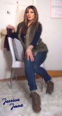 Gilet & Jeans (jessicajane9) Tags: tv lgbt transvestite transgender crossdressing crossdress tgirl tg cd m2f feminised trans