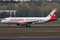 D-ABDU / Air Berlin Airbus / A320-214 (Peter Reoch) Tags: data center photos help login search dabdu air berlin airbus a320214 a320 a 320 etihad joint paint colour scheme special partnership airline flying aviation germany german tegel airport txl