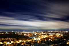 Windy night in Prague (FoGh.cz) Tags: prague blurred city cloud clouds lights longexposition night tower view wide wind