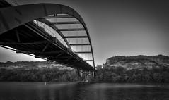 Bridge Shadow, Austin TX (sbmeaper1) Tags: hdr black white bw 360 bridge austin texas tx monochrome pennybacker