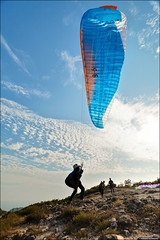 Paragliding in Sai Kung (TOMMY AU PHOTO) Tags: hongkong saikung paragliding paragliderpilot mountains outdoors nature clouds blue sky catchycolorsblue 西貢 香港