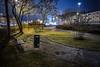 Parken längs Mieån (Ludwig Sörmlind) Tags: grass karlshamn nightshot stad sweden blekinge city park nightphoto rain regn evening blekingelän sverige se