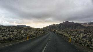 the endless drive through lava fields