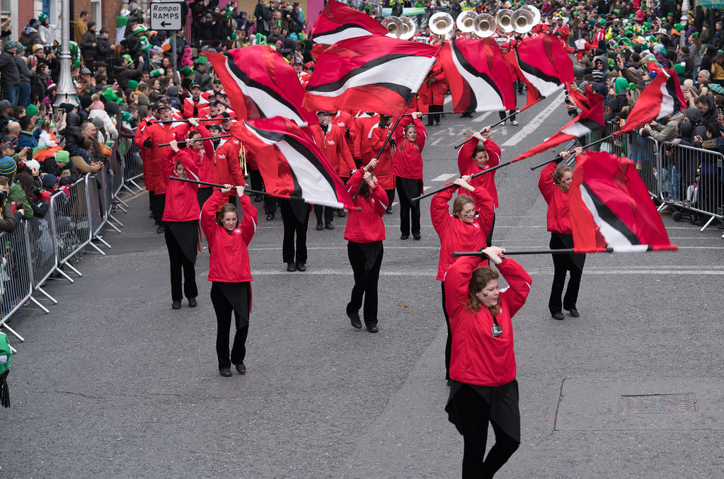 Illinois State University's Big Red Marching Machine [St. Patricks Parade 2017]-125846