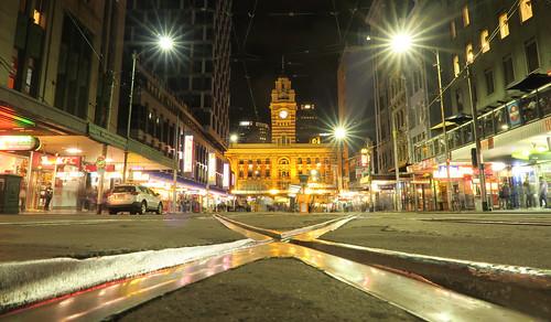 Elizabeth Street tram tracks
