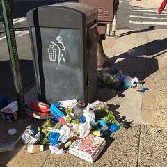 What percentage of this sidewalk garbage pile is dog poop bags? (brendankeegan) Tags: instagram what percentage this sidewalk garbage pile is dog poop bags