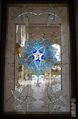_JAM8752 (Jamil D750) Tags: sheikh zayed grand mosque abu dhabi muslim islam desert marble glass gold chandelier ornate grandiose wonder marvel holy sacred nikon d750 window design flower floral pattern stained