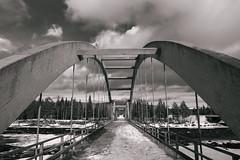 Bridge over the cold lake (knipslog.de) Tags: arcticfalls arjeplog schnee schweden storforsen waterfall panorama polarlights snow winter ice reindeer caribou