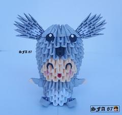 Koala Kid Origami 3d (Samuel Sfa87) Tags: koala kid origami 3d origami3d bimbo bimbi fantasiado fantasia block blockfolding crafts handmade sfaorigami sfa87 sfa suit