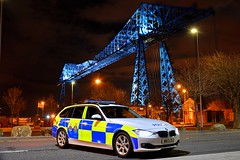 NK13 DGZ (S11 AUN) Tags: durham constabulary bmw 330d 3series xdrive touring anpr police traffic car rpu roads policing unit 999 emergency vehicle policeinterceptors middlesbrough teesside transporter bridge cleveland nk13dgz