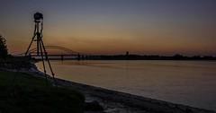 The golden hour over River Mersey (joanjbberry) Tags: sunset sky reflection river island golden pentax clearsky runcorn k3 cameraclub rivermersey wiggs runcornbridge runcorndocks moorecameraclub pentaxk3 wiggsisland