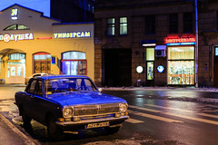The old car  in St.Petersburg/Russia (h_eichinger) Tags: winter nacht russia petersburg kalt