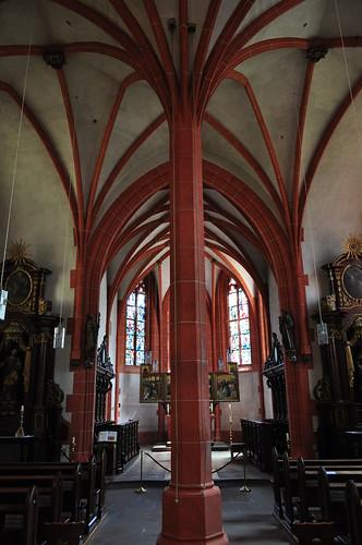 Chapelle gothique de l'Hôpital Saint-Nicolas (1447), Kues,  commune de Bernkastel-Kues, landkreis de Bernkastel-Wittlich, Rhénanie-Palatinat, Allemagne.