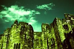 Alnwick Castle (deadheaduk) Tags: castle film vintage crossprocessed crossprocess harrypotter slide alnwick northumberland analogue agfa alnwickcastle olympus35sp deadheaduk kevingeraghtyshewan downtonabbey
