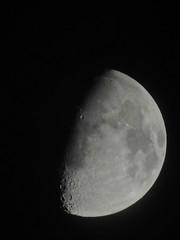 l'assombrie par les nuages (laetitiablableuse) Tags: sky cloud moon france lune poetry glory ile ciel val half suburb nuage vues banlieue marne