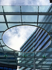 A hole in the roof by shopping centre Almere, Flevoland, Netherlands (Frans en Gerdi) Tags: roof 6 apple glass shopping hole centre ngc flevoland almere iphone linescurves lunaphoto urbanarte