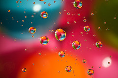 Abstract water drop on colourful ball (developpementgenesio) Tags: light abstract color colour art water ball thailand think drop scatter concept decor colourfull