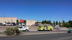 Gas leak 1 9/24/2015 (THE RANGE PRODUCTIONS) Tags: truck fire suv ems southwestus animalcontrol smalltownsouthwest sierracountynm