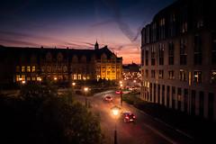 Entre la nuit et le jour... (Gilderic Photography) Tags: road street city light cars architecture night sunrise lumix day darkness belgium belgique belgie panasonic palais liege ville luik gilderic lx3 dmclx3 princeseveques