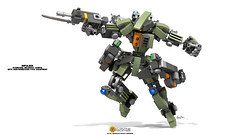 Impulser; Standard Infantry Configuration with High-Type Maneuver Equipment (clmntin.E) Tags: digital suits lego mechanical designer military hard mini future scifi futuristic mecha mech povray mocs minifigure moc afol ldd exo miniland hardsuits impulser minifigurine exosuits clmntine