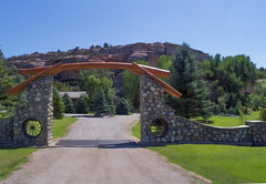 Ranch Gate, Wind River Basin, Wyoming, USA  2010 Patrick Alan Swigart, Gone to Look for America (Patrick Alan Swigart) Tags: ranch usa look alan america river for gate wind pat patrick basin gone wyoming 2010 wy swigart gonetolookforamerica