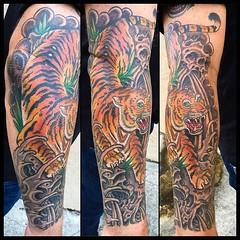 El tigre...Tora #tigertattoo #tora #pooch #tattoo #alteredstatetattoo #japanesetattoo