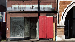 Section of storefronts along Penn Avenue, Garfield, Pittsburgh, October 11, 2015