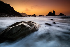 beached whal ... (cfaobam) Tags: tenerife teneriffa spain spanien europe cfaobam canon nationalgeographic national geographic outdoor berg landschaft felsformation felsen travel reisen benijo beach sunset sonnenuntergang strand stone rock orange playa almáciga canarias islascanarias canaryislands ma magic light see landscape longexposures langzeitbelichtung globetrotter