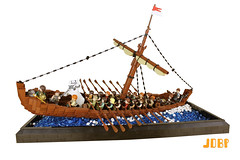The Journey Home (peggyjdb) Tags: sea horse history king ship lego wave sail oar mast saxon rdwald rgenhere