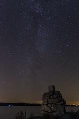 Lippukari & Milky Way (Juho Holmi) Tags: sky lake macro nature k night way stars island star dc pentax 5 sigma 45 17 28 70 milky tampere ricoh starry k5 jrvi nsijrvi yljrvi 1770mm f2845 pirkanmaa ylinen linnunrata birkaland mutala korpisaari lippukari kystil