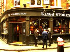 King's Stores (Draopsnai) Tags: pub spitalfields sandys hamlets citypub londonboozer widegatestreet kingsstores traditionalbritishpub rowtower