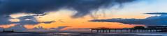 St Annes Panormaic (liamhancox1) Tags: blue sunset sea orange storm colour beach water rain st yellow pier still sand wind cloudy nimbus dune hill salt windy panoramic rainy flowing barney blackpool annes whispy cumulo