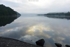 The Silence In Motion (Explored) (Fredrik Lindedal) Tags: trees sky lake motion reflection nature fog clouds train nikon rocks sweden foggy silence sverige