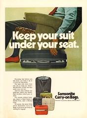 1970 Samsonite Carry-On Bags Advertisement Newsweek March 16 1970 (SenseiAlan) Tags: march advertisement 16 1970 bags newsweek carryon samsonite