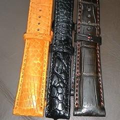 Custom Made Crocodile Leather Watch St