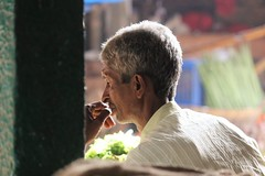 Peacefully contemplative (bluelotus92) Tags: people india market marketplace karnataka contemplative mysore mysuru devarajursmarket devarajaursmarket