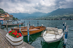 A cloudy day (marypink) Tags: sky lake clouds landscape boats nuvole barche cielo lombardia lagodiiseo monteisola montisola peschieramaraglio nikond800 nikkor1635mmf40