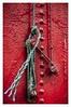 Blue rope (matt_langton70) Tags: scotland balloch lomond nikon d90 lightroom rope blue red knot frayed rivets old maidoftheloch